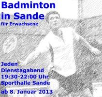 Badminton-Plakat