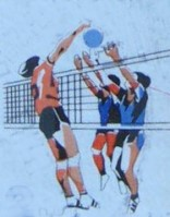 Volleyball-Briefmarken