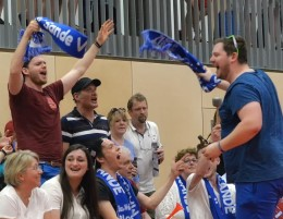 Sander Volleyball-Fans in Aachen